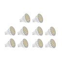 Spot LED Blanc Chaud / Blanc Froid 10 pièces GU10 7W 18 SMD 5630 570 LM AC 100-240 V
