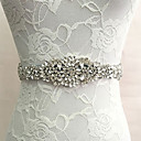 Satin Wedding / Party/ Evening Sash-Crystal / Imitation Pearl Women's