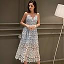 vestido del oscilación calle elegante del bloque del color de las mujeres dabuwawa, poliéster midi correa / spandex