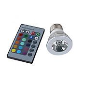 3W E26/E27 Focos LED MR16 1 LED de Alta Potencia 150 lm RGB Control Remoto AC 100-240 V