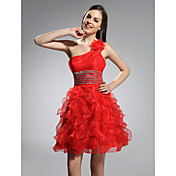 TS Couture® Cocktail Party / Prom / Holiday / Sweet 16 Dress - Ruby Plus Sizes / Petite A-line / Princess One Shoulder Short/Mini Organza
