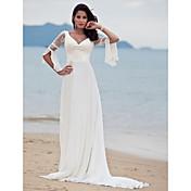 SIRKA - Vestido de Noiva em Chifon e Renda