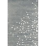 acrílico alfombras peludas zona con la floración de modelo de la paja 3 '* 5'