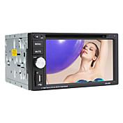 Reproductor de DVD del coche 2DIN pantalla táctil digital de 6,2 pulgadas con tv, rds