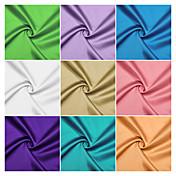 100% poliéster tejido de raso por el patio (muchos colores)