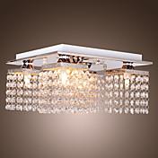 Lampada a soffitto, in cristallo, con 5 luci