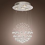 Lámparas Colgantes ,  Moderno / Contemporáneo Cromo Característica for Cristal Metal Sala de estar Dormitorio Comedor
