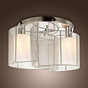 Moderne krystalltaklampe med 2 lys (kromfinish)