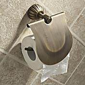 egyszerű kerek stílusú antik sárgaréz WC-papír tartók