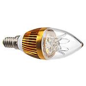 3w e14 ledキャンドルライトc35 3ハイパワーled 300-350 lm暖かい白dimmable ac 220-240 v