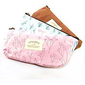 テキスタイル農村の花の鉛筆バッグ(ランダムな色)