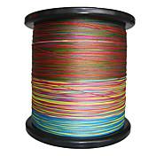2000M / 2200 Patios Hilo trenzado PE / Dyneema Sedal Verde / Naranja / Amarillo / Morado / Fucsia / Rojo / Azul / Colores Surtidos8LB /