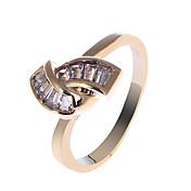 18 quilates de S & V Mujeres Rose chapado en oro circón anillo BBR-00269_1