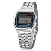 Pánské Náramkové hodinky Digitální hodinky Digitální LCD Kalendář Chronograf poplach Slitina Kapela Stříbro Stříbrná