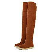 Aislados botas de alto de rodilla de las mujeres