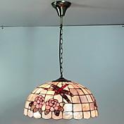 カラフルな自然シェル材質統合シェードと80W芸術ティファニーのペンダントライト