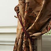 Dos Paneles Ventana Tratamiento Neoclasicismo Europeo Poliéster Material cortinas cortinas Decoración hogareña For Ventana