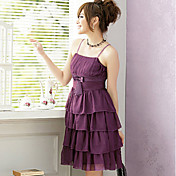 Vestido de la gasa de la correa PINYOU Mujer (púrpura) _1125