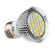 5W E26/E27 Focos LED 16 SMD 5730 420-450 lm Blanco Cálido AC 100-240 V