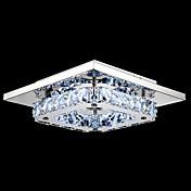umei ™ førte krystal flush mount, en lys, moderne transparent galvanisering rustfrit stål
