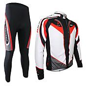 Sets de Prendas/Trajes / Pantalones / Jerseyes (Blanco / Negro) - de Deportes recreativos / Ciclismo -Transpirable / Secado rápido /