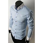 メンズスタンドカラーカジュアル長袖シャツ