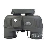 10X50 mm Binoculares Impermeable Táctico Militar Compás BAK4 Revestimiento Múltiple Completo 132m/1000mEnfoque Central Enfoque