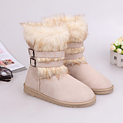 Guosheng Fashion Fox-Pelz-Schnee-Aufladungen (Cream)