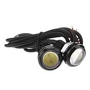 Coche Blanco Frío 3W COB 6000 Luz Instrumental Luz Para La Placa del Coche Luz de Direccional LED Angel Eyes