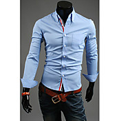 メンズリボン装飾品簡潔なシャツ