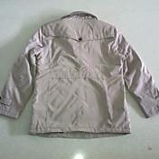 ロング舞メンズカジュアルロング/ミドル厚みの綿のコート(ライトカーキ)