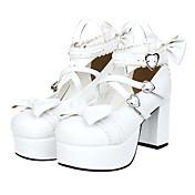 Zapatos Amaloli Princesa Plataforma Zapatos Lazo 8 CM Para Cuero Sintético/Cuero de Poliuretano