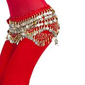 Břišní tanec Šátky na břišní tance Dámské Trénink Polyester Lemování / Mince / Flitry Jeden díl Přírodní Šátek přes boky