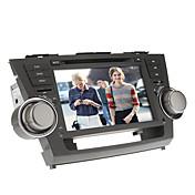 8inch 2 din in-dash auto dvd-speler voor Toyota Highlander 2008-2012 met gps, bt, ipod, rds, touch screen