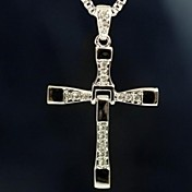 Pánské Náhrdelníky s přívěšky Slitina Cross Shape Stříbrná Šperky Denní Ležérní Vánoční dárky
