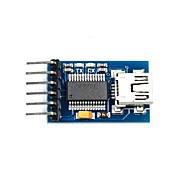 Funduino用シリアル232のTTLアダプタモジュールへのFT232RL USB - ブルー(3.3〜5V)