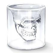 クールな透明創造怖いスカルヘッド設計ノベルティ箸置き、ワインショットグラスカップ75ミリリットル
