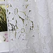 Un Panel Ventana Tratamiento Campestre Dormitorio Poliéster Material Sheer Cortinas Cortinas Decoración hogareña For Ventana