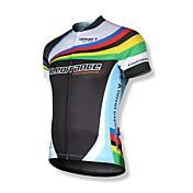SPAKCT Maillot de Ciclismo Hombre Manga Corta Bicicleta Camiseta/Maillot Tops Secado rápido Cremallera delantera Listo para vestir