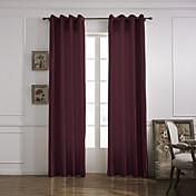 Un Panel Ventana Tratamiento Modern , Un Color Sala de estar Poliéster Material cortinas cortinas Decoración hogareña For Ventana