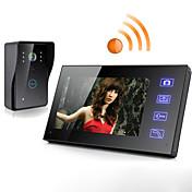 ワイヤレス7インチ液晶タッチスクリーン電話インターホンビデオドアのドアベルホームセキュリティカメラのモニター