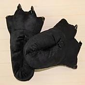 着ぐるみ パジャマ パンダ シューズ スリッパ イベント/ホリデー 動物パジャマ ハロウィーン ブラック ゼブラプリント スリッパ ために 男女兼用 ハロウィーン