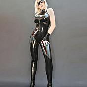 パンクレディLadygagaスタイルブラックPU女性の舞台セクシー制服