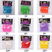 600pcs arco iris banda telar moda telar de color (clip 1package s, colores surtidos)