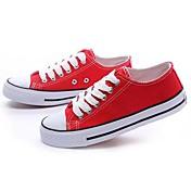 de moda los zapatos de lona de las mujeres clásicas zapatillas de deporte (rojo) meroketty ®