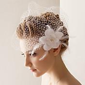 ウェディングベール 1段 ヘッドドレス・ベール 10-20cm チュール ホワイト Aライン、ボールガウン、プリンセス、スレンダーライン、マーメイドライン