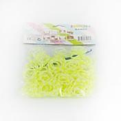 300pcs de color amarillo pulseras de la goma de silicona twistz bricolaje color del arco iris DIY estilo telar