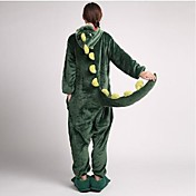 Kigurumi Pijamas Dinossauro Collant/Pijama Macacão Chinelos Festival/Celebração Pijamas Animais Dia das Bruxas Verde PatchworkVelocino de