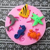 ryby delfín krab pečení fondant dort choclate cukroví formy, l6cm * w6cm * h0.9cm