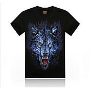 t-shirt em torno do pescoço de animais de algodão dos homens romanos